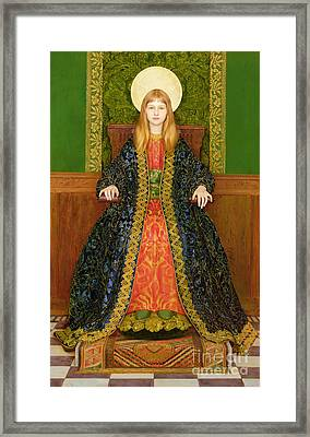 The Child Enthroned Framed Print by Thomas Cooper Gotch