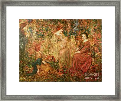 The Child Framed Print by Thomas Edwin Mostyn