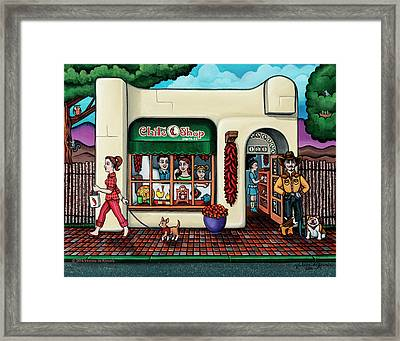 The Chile Shop Santa Fe Framed Print by Victoria De Almeida