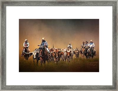 The Chisolm Trail Framed Print by David and Carol Kelly
