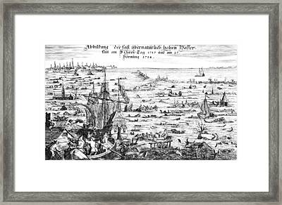 The Christmas Flood Framed Print by Dutch School