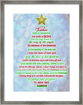 The Christmas Prayer Framed Print by Dan Sproul