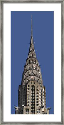 The Chrysler Building - Deco Detail Framed Print by Rona Black