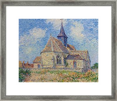 The Church At Porte-joie On The Eure Framed Print by Gustave Loiseau