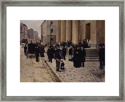 The Church Of Saint-philippe-du-roule Paris Framed Print by Jean Beraud
