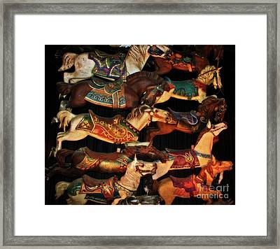 The Circle Game Framed Print by Mary Machare