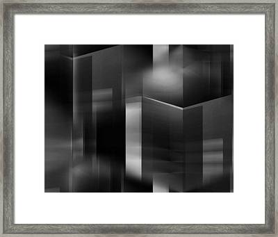 The City At Night 3 Framed Print by John Krakora