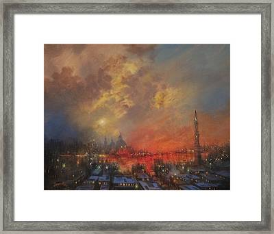 The City In The Sea Framed Print by Tom Shropshire