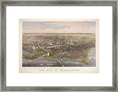 The City Of Washington Framed Print by Charles Richard Parsons