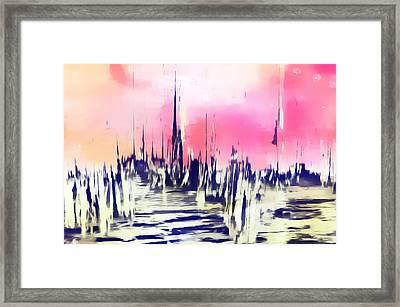 The City Framed Print by Tom Gowanlock