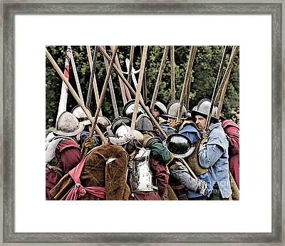 The Clash Of The Pikemen Framed Print by Linsey Williams