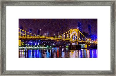 The Clemente Bridge Heading To The Northshore Framed Print by Digital Photographic Arts