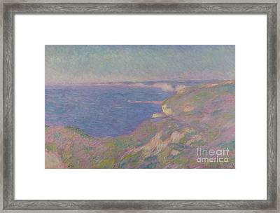 The Cliffs Near Dieppe Framed Print by Claude Monet