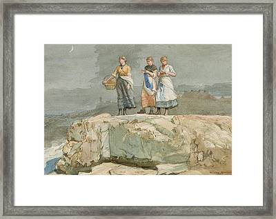 The Cliffs Framed Print by Winslow Homer