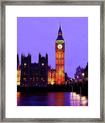 The Clock Tower Aka Big Ben Parliament London Framed Print by Chris Smith