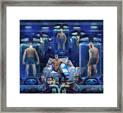 The Cloning The X Factor The Resurrection Of Malik El Shabazz Framed Print by Reggie Duffie