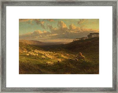 The Closing Day, Scene In Sussex Framed Print by George Vicat Cole