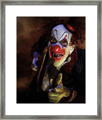 The Clown Framed Print by Mary Hood