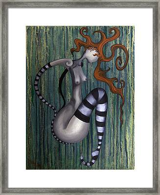 The Clown Framed Print by Kelly Jade King