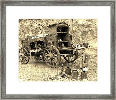 The Coffee's Gittin Cold Framed Print by Donna Parlow
