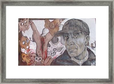 The Cold World Of Ed Gein Framed Print by Sam Hane