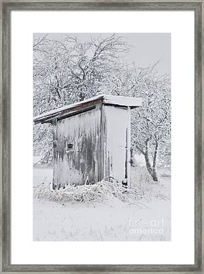 The Coldest Fifty Yard Dash Framed Print by Benanne Stiens