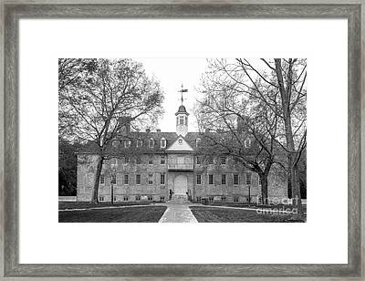 The College Of William And Mary Wren Building Framed Print by University Icons