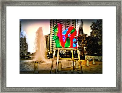 The Color Of Love Framed Print by Bill Cannon