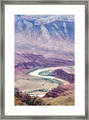 The Colorado At Lipan Point Framed Print by Jessica Velasco