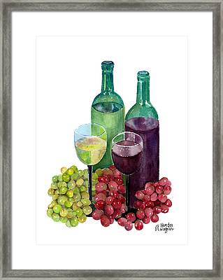The Colors Of Wine Framed Print by Arline Wagner