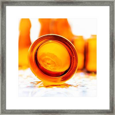 The Colour Of Amber IIi - Square Framed Print by Jon Woodhams
