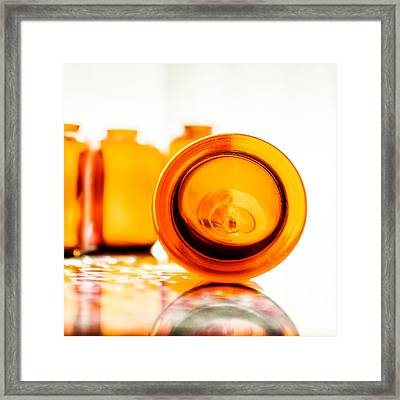 The Colour Of Amber V - Square Framed Print by Jon Woodhams