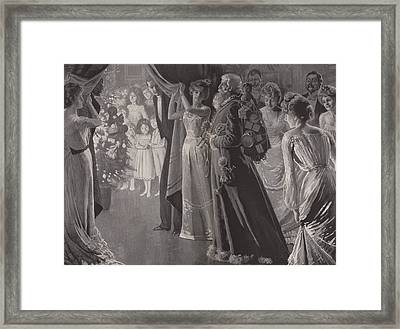 The Coming Of Santa Claus Framed Print by Lucien Davis