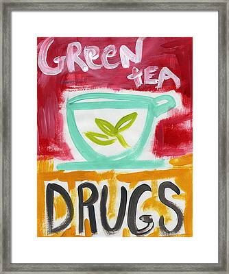 The Common Cure- Abstract Expressionist Art Framed Print by Linda Woods