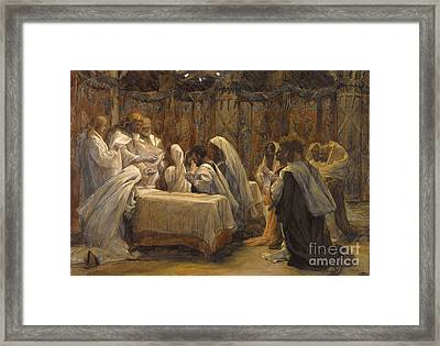 The Communion Of The Apostles Framed Print by Tissot