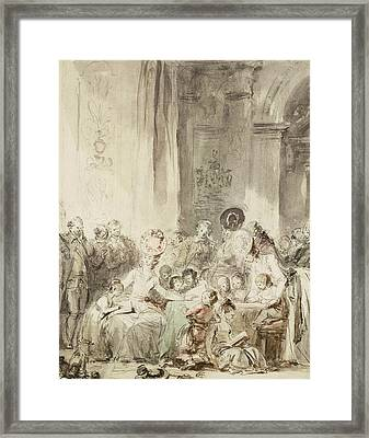 The Competition Framed Print by Jean-Honore Fragonard
