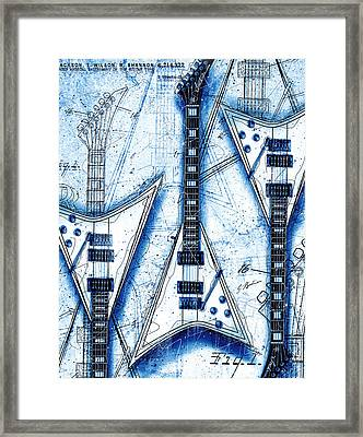 The Concorde Blueprint Framed Print by Gary Bodnar