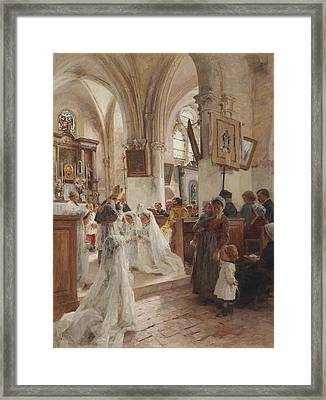 The Confirmation Framed Print by Leon Augustin Lhermitte