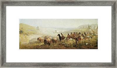 The Conquest Of The Prairie Framed Print by Irving R Bacon