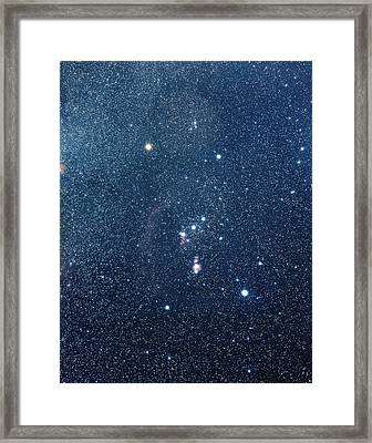 The Constellation Of Orion Framed Print by Luke Dodd