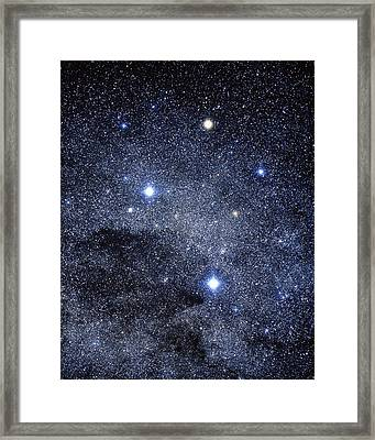 The Constellation Of The Southern Cross Framed Print by Luke Dodd