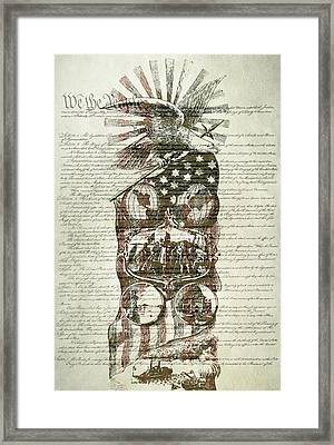 The Constitution Of The United States Of America Framed Print by Dan Sproul