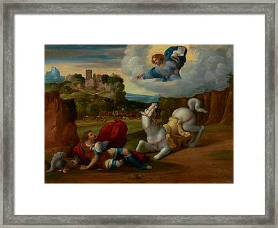 The Conversion Of Saint Paul Framed Print by Mountain Dreams