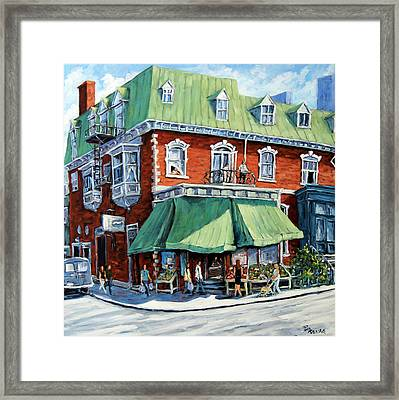 The Corner Market Framed Print by Richard T Pranke