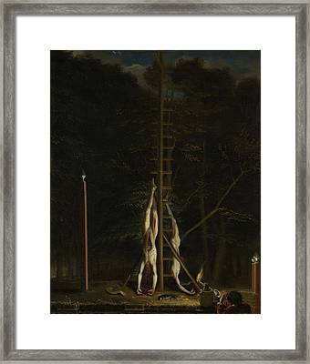 The Corpses Of The De Witt Brothers, 1672 Framed Print by Jan de Baen