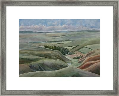 The Corrugated Plain Framed Print by Jenny Armitage