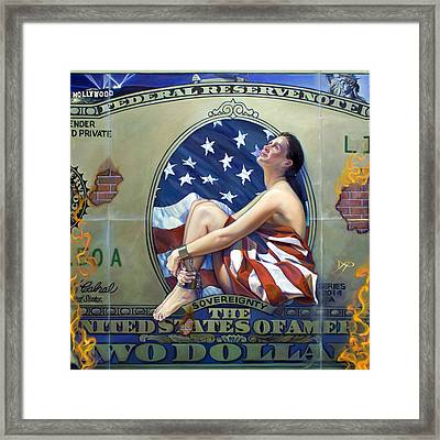 The Cost Of Freedom Framed Print by Patrick Anthony Pierson