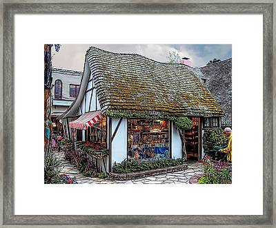 The Cottage Of Sweets - Carmel Framed Print by Glenn McCarthy