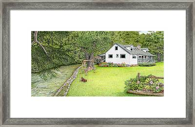 The Cottage On Indian Creek Framed Print by Albert Puskaric