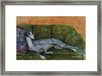 The Couch Potatoe Framed Print by Frances Marino